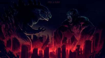 Godzilla Kong King Artwork God Wallpapers 4k