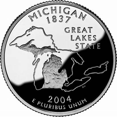State Michigan Quarters Quarter Ten 2004 Lakes