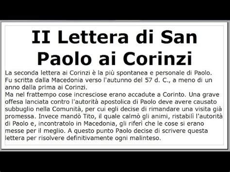 lettere san paolo seconda lettera ai corinzi di san paolo