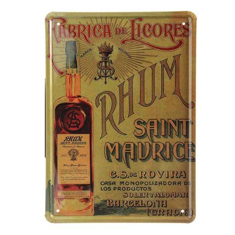 rhum tin sign vintage metal plaque poster bar pub wall decor alex nld