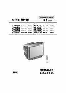 Sony Kv-25x5a Service Manual