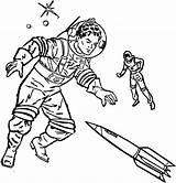 Coloring Space Astronaut Aliens Printable Fantasy Astronauts Medieval Ruimtevaart Kleurplaten Cosmonauts Helmet Sheets Moon Alien Sheet Kid Adult Bestcoloringpagesforkids Zo sketch template