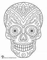 Coloring Skull Sugar Adult Skeleton Printable Skulls Dead Colouring Halloween Books Awesome Fairy Bones Arte Kleurplaten Painting Woojr Caveiras Muertos sketch template