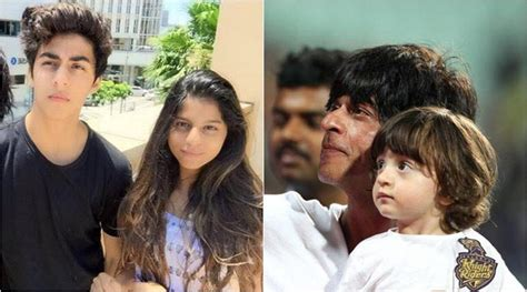 Srk Says Son Aryan Is A 'badass', Suhana 'dainty' And