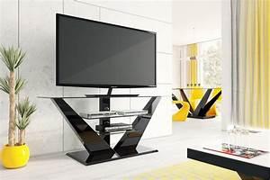 Fernsehtisch Schwarz Glas : design fernsehtisch hl 111 schwarz hochglanz glas led tv m bel rack lcd hochglanz tv m bel ~ Indierocktalk.com Haus und Dekorationen