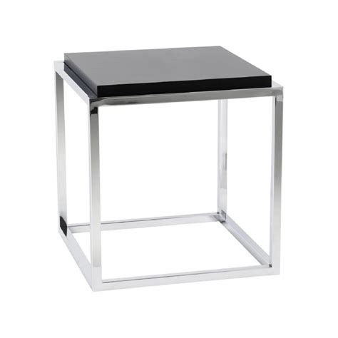 table bout de canap 233 design metacub noir 42x42x44 pier import