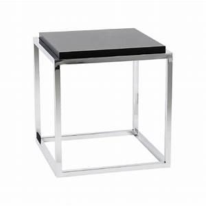 Meuble Bout De Canapé : table bout de canap design metacub noir 42x42x44 pier import ~ Preciouscoupons.com Idées de Décoration