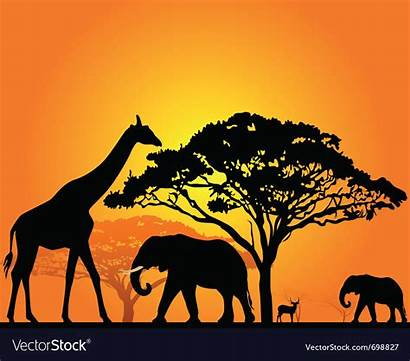 Safari Silhouette African Vector Royalty Vectors