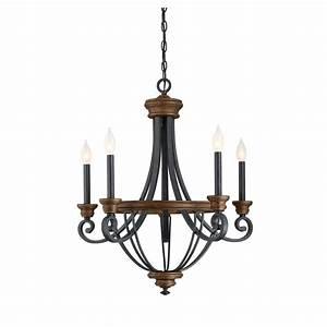 Filament design light whiskey wood chandelier ect