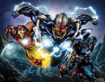 Wallpapers Nova Marvel Superhero Corps Coloring Wallpaperaccess