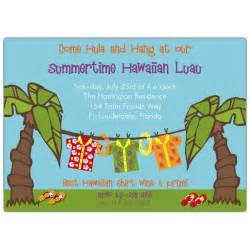 anniversary plates personalized hawaiian luau party invitations paperstyle