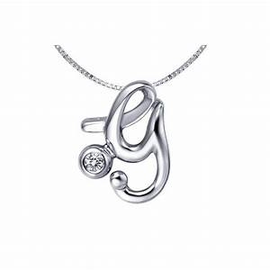 y initial alphabet diamond pendant on 10k white gold With white gold letter pendant