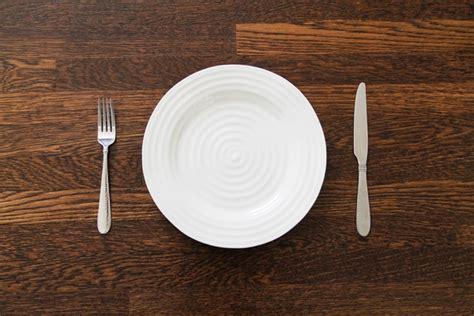 empty plate  fork  knife  stock   jpg