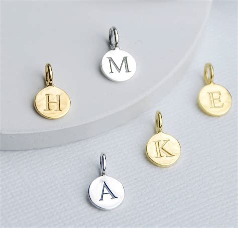 Sterling Silver Initial Letter Disc Charms By Penelopetom ...