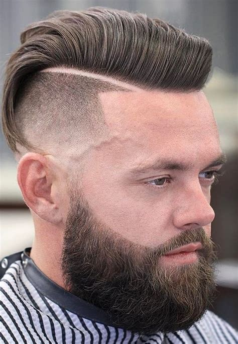 mens parted hair styles top 25 side parted and fade mens haircuts with beard 6114