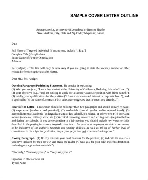 Outline For A Cover Letter by Proper Outline For A Cover Letter Thedrudgereort838 Web