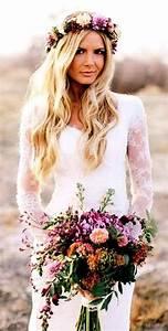 Beach bride's long blonde wedding hair Toni Kami ⊱ Flowers in her hair ⊰ boho flower crown
