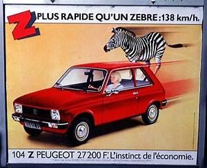 Peugeot 104 Zs Occasion : plus rapide qu 39 un z bre la peugeot 104 z publicit s automobiles anciennes pinterest ~ Medecine-chirurgie-esthetiques.com Avis de Voitures