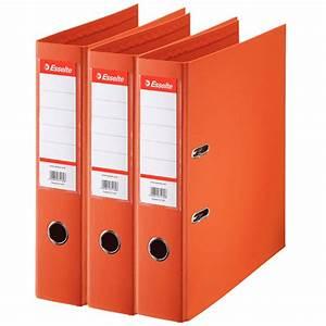 Esselte Lot De 10 Classeurs Levier Standard Orange 2