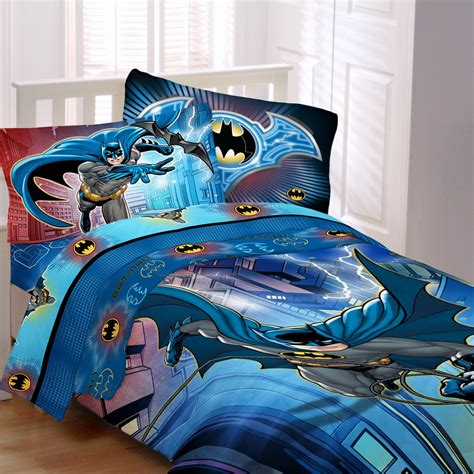 batman lightning night  piece bed   bag  sheet