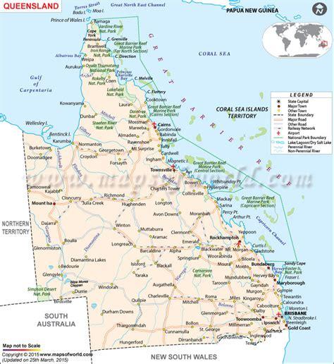 map  queensland world map vector