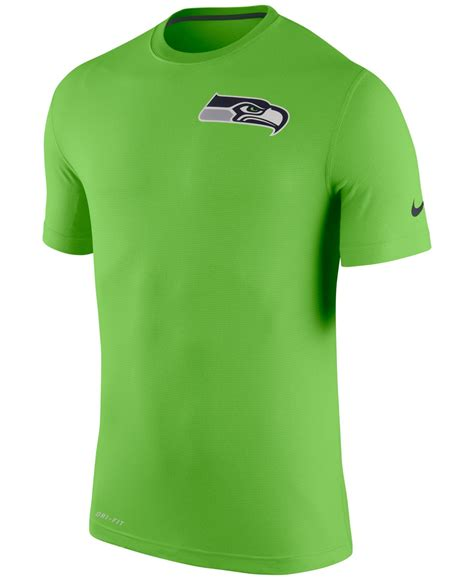 lyst nike mens seattle seahawks dri fit touch  shirt