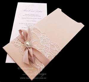 sparkle wedding invitation and envelope vintage lace With 2 in 1 wedding invitations
