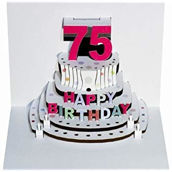 Forever Happy 75th by Forever Handmade Cards Pop Ups Pop69 75th Birthday