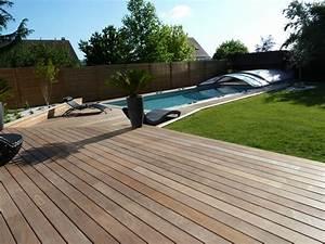 terrasse bois le blog maison bois dans le nord With amenagement autour de la piscine 5 menuiserie exterieure platelage de piscine terrasse bois