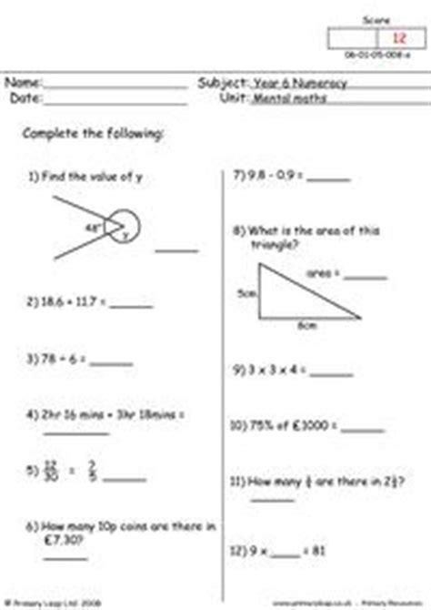 free mental maths printable resource worksheets for kids