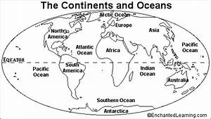 Blank Continents And Oceans Worksheets | Continents and Oceans Quiz Printout - EnchantedLearning ...