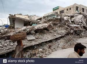 Ruins Of Buildings In A Street In Central Muzaffarabad