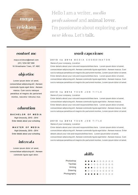 Stylish Resume Templates by Stylish Resume Template And Cover Letter Cv Design In By