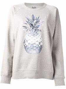 Lala Berlin Hoodie : lyst lala berlin space pineapple sweatshirt in gray ~ Jslefanu.com Haus und Dekorationen