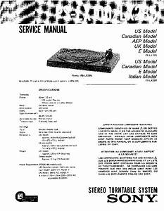 Sony Ps-lx100  Ps-lx120d  Ps-lx285 Service Manual