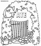 Gate Heaven Gates Coloring Colorings Drawing Pages Colouring Template Wood Sketch Getdrawings sketch template