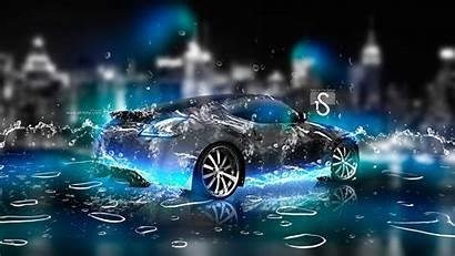 3d Wallpapers Water Neon Desktop Nissan Digital