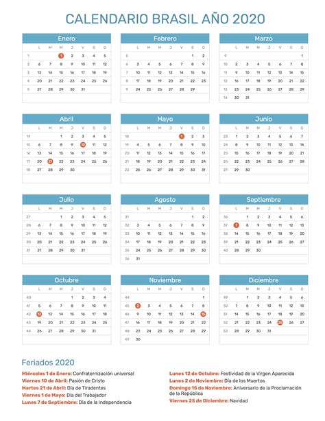 calendario de brasil ano feriados