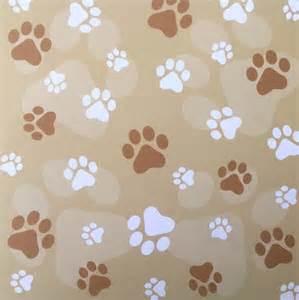 Dog Paw Print Printable Scrapbook Paper