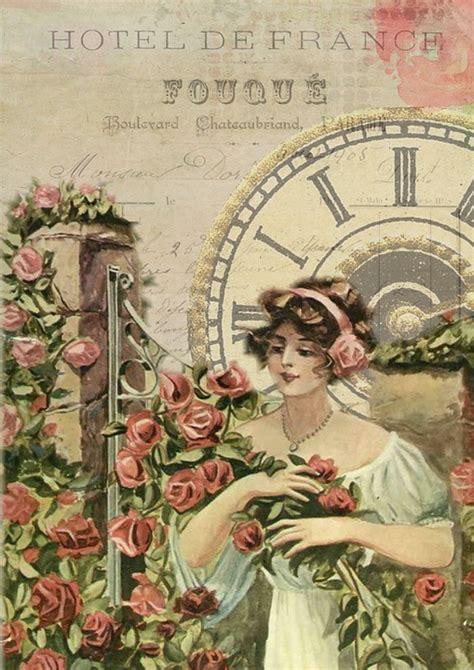 french vintage girl  image  pixabay