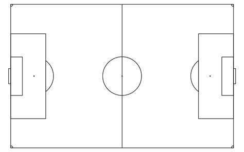 soccer field template blank soccer field layout