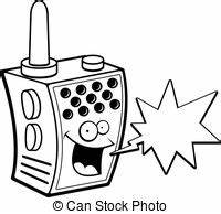 walkie talkie clipart and stock illustrations 2795 With two way radio
