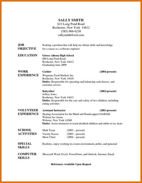 Babysitting On A Resume by 5 6 Babysitting Resume Sowtemplate