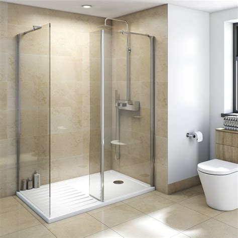 Plumb Bathroom Cabinets by V8 Walk In Shower Enclosure Pack 1400 X 900