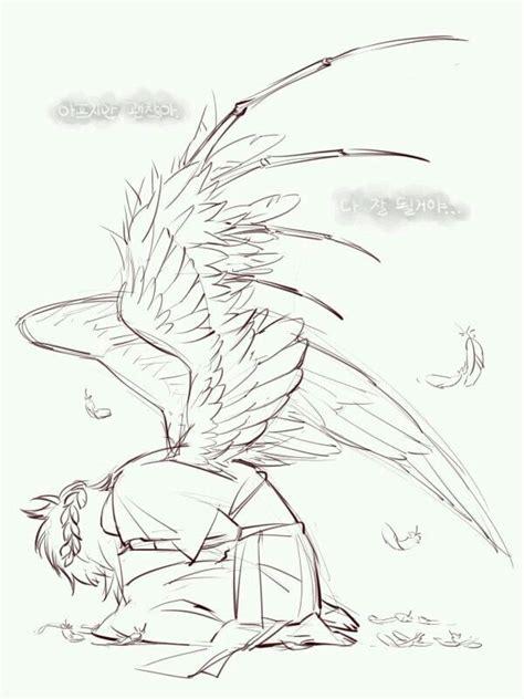 fallenangel drawingreference posesreference wings