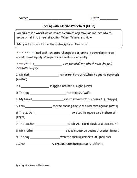 15 best images of adverb worksheets for 6th grade 3rd