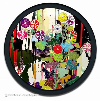 Murakami Round Framed Takashi Examples Prisma Offset