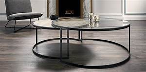 Coffee table glamorous nesting coffee tables nesting for Glass top circle coffee table
