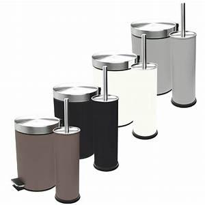 Wc Garnitur Set : bad set badezimmer m lleimer toilettenb rste wc garnitur kosmetikeimer 2tlg ebay ~ Orissabook.com Haus und Dekorationen