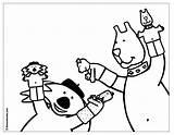 Marionnette Marionnettes Cochon Coloringhome sketch template